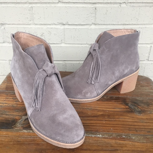 2dd8e8d8f86 UGG Corin | Bow Fringe Tassel | Gray Suede Booties NWT